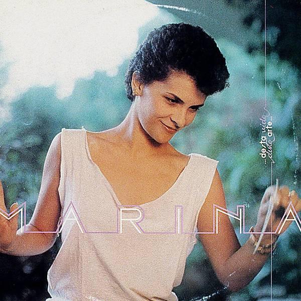 A cantora Marina Lima, na capa do disco Desta Vida, Desta Arte, em 1982
