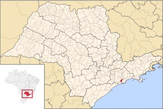 9 de Abril - 1833 - Aniversário da cidade de Cubatão, SP - mapa, localização.