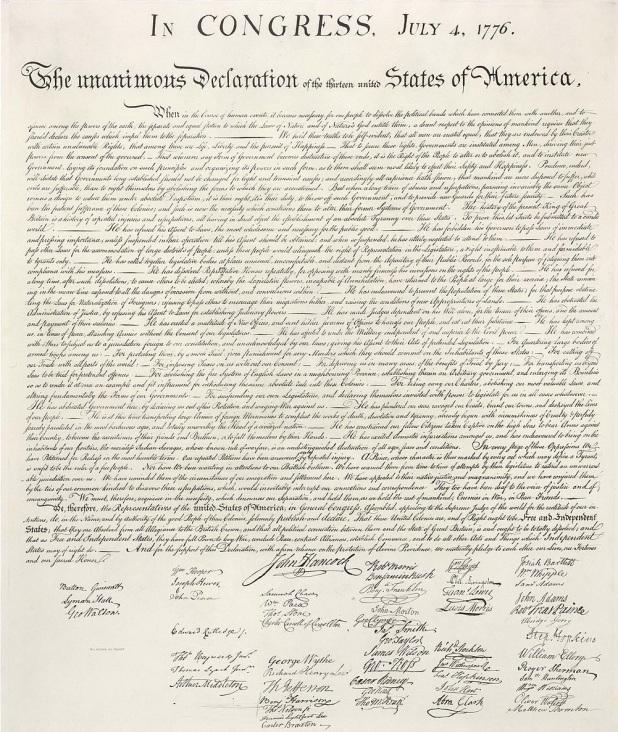 4 de Julho – 1776 – Publicada a Declaração da Independência dos Estados Unidos. É utilizado pela primeira vez na Declaração da Independência o nome 'Estados Unidos da América