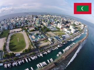 Cidade de Malé, capital das Ilhas Maldivas.