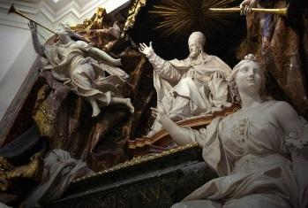 3 de Maio - 1719 — Pierre Le Gros, o Jovem, escultor francês (n. 1666). Foto - Tumba de Gregório XV, escultura de Le Gros.
