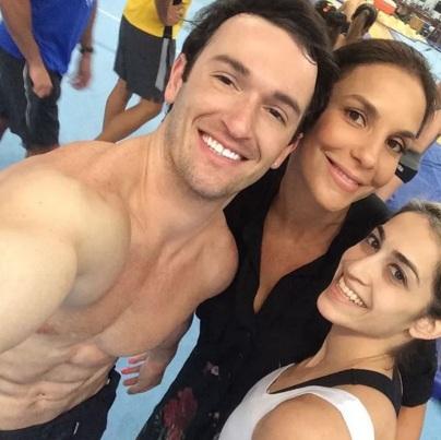 19 de Junho - Diego Hypolito, Ivete Sangalo e Danielle Hypolito.
