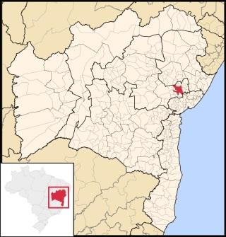 18 de Setembro – Mapa de localização — Feira de Santana (BA) — 184 Anos em 2017.