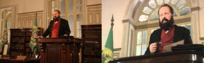 29 de Agosto — Bezerra de Menezes - 1831 – 186 Anos em 2017 - Acontecimentos do Dia - Foto 16 - Filme - Dr. Bezerra na Câmara Municipal - Cena com Carlos Vereza.