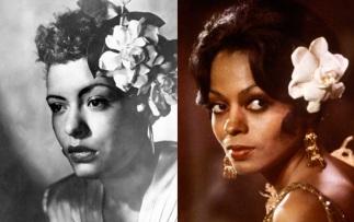 7 de Abril - 1915 — Billie Holiday, cantora norte-americana com Diana Ross.