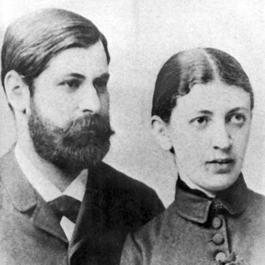 6 de maio - Sigmund Freud com Martha Bernays.