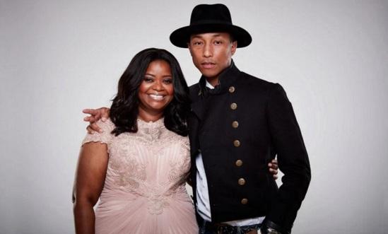 25 de Maio - Octavia Lenora Spence, atriz, com Pharrell Williams.