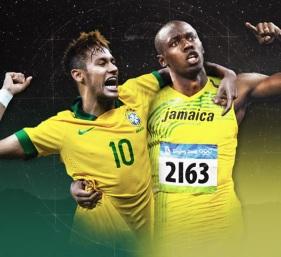 21 de Agosto — CAPA • Usain Bolt - 1986 – 31 Anos em 2017 - Acontecimentos do Dia - Foto 21 - Neymar e Usain Bolt.