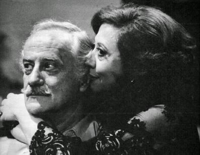 7 de Setembro – Paulo Autran - 1922 – 95 Anos em 2017 - Acontecimentos do Dia - Foto 4 - Paulo Autran e Fernanda Montenegro em 'Guerra dos Sexos'.