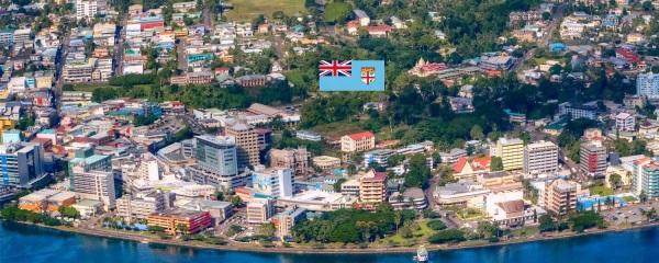 Cidade de Suva, capital de Fiji.