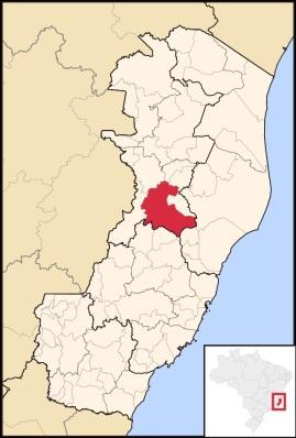 22 de Agosto — Mapa de localização — Colatina (ES) — 96 Anos em 2017.