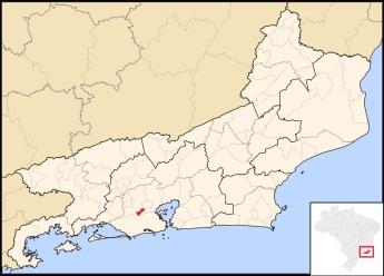 25 de Setembro – Mapa de localização — Mesquita (RJ) — 18 Anos em 2017.