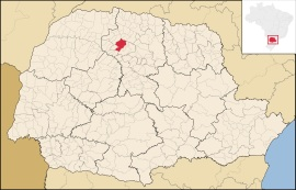 10 de Maio - 1947 - Maringá - PR - Localização de Maringá no Paraná.