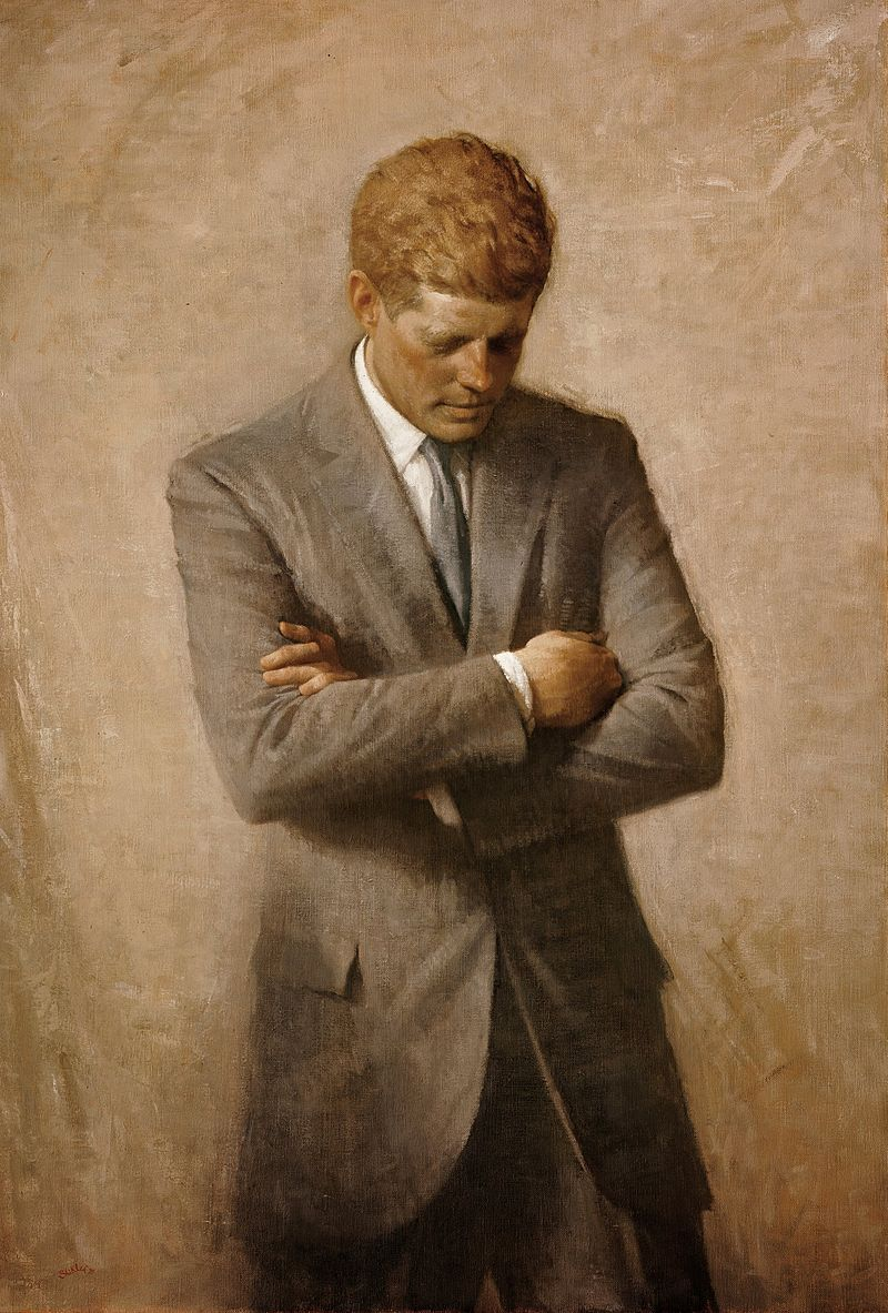 Retrato oficial de JFK da Casa Branca.