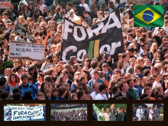 29 de Setembro – 1992 – Impeachment do presidente brasileiro Fernando Collor de Mello pelo Congresso Nacional.
