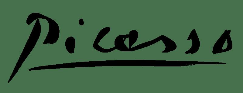 8 de Abril - 1973 — Pablo Picasso, pintor espanhol (n. 1881) - Assinatura de Picasso.