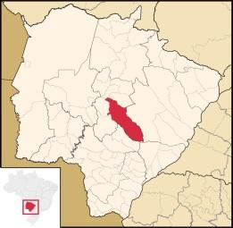 26 de Agosto — Mapa de localização — Campo Grande (MS) — 118 Anos em 2017.