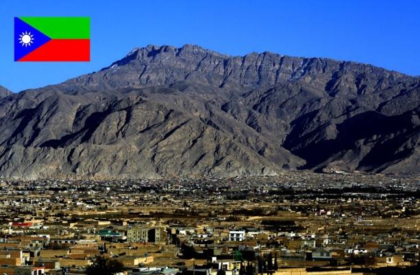 Cidade de Quetta, maior cidade do Baluchistão.
