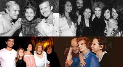 23 de Agosto — Tônia Carrero - 1922 – 95 Anos em 2017 - Acontecimentos do Dia - Foto 19 - Tônia Carrero em fotomontagem com atores e o filho Cecil Thiré.