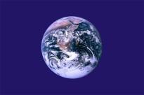 22 de Abril - Bandeira não-oficial do Dia da Terra - O Planeta sobre um fundo azul.