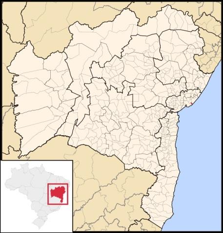 31 de Julho - Mapa de localização - Lauro de Freitas (BA) — 55 Anos em 2017.