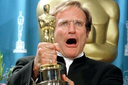 21 de Julho - Robin Williams - 1951 – 66 Anos em 2017 - Acontecimentos do Dia - Foto 8 - Com o Oscar.