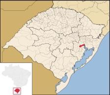 8 de Junho - Localização de Eldorado do Sul no Rio Grande do Sul.