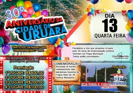 13 de Setembro – Aniversário da cidade — Uruará (PA) — 30 Anos em 2017.
