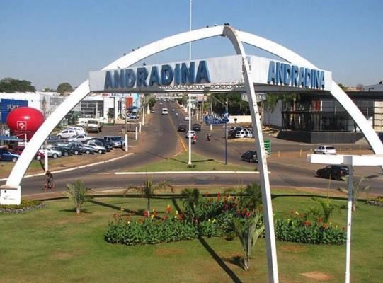 11 de Julho – Entrada da cidade — Pórtico - Andradina (SP) — 80 Anos em 2017.