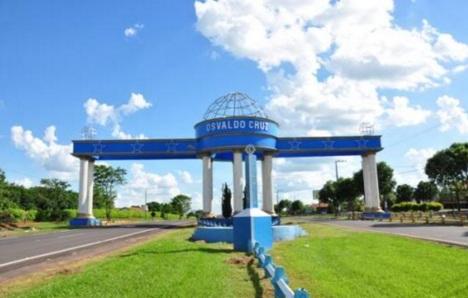 6 de Junho - Pórtico da cidade - Osvaldo Cruz (SP) – 76 Anos.