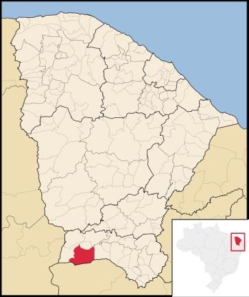 3 de Agosto – Mapa de localização — Araripe (CE) — 142 Anos em 2017.