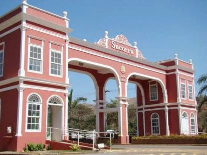 9 de Agosto – Pórtico de Socorro recebe os visitantes da cidade, que fica na Serra da Mantiqueira — Socorro (SP) — 188 Anos em 2017.