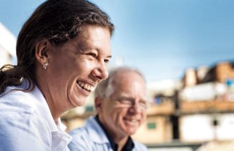 14 de Agosto – Ana Moser - 1968 – 49 Anos em 2017 - Acontecimentos do Dia - Foto 16 - Ana Moser com Sérgio Petrilli, oncologista pediátrico que fundou o Graacc.