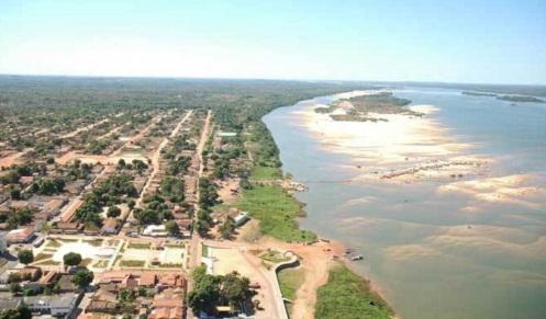 30 de Maio - O majestoso Rio Araguaia e suas praias e vista aérea da cidade - Conceição do Araguaia (PA) - 120 Anos