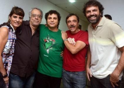 21 de Maio - Fernanda Abreu, Fausto Fawcett, Frejat, Charles Gavin e Tuta Ferraz.