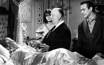13 de Agosto – Alfred Hitchcock - 1899 – 118 Anos em 2017 - Acontecimentos do Dia - Foto 23 - Tippi Hedren, Alfred Hitchcock e Sean Connery, na gravação de 'Marnie', de 1964.