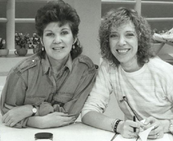 31 de Maio - 1948 - Marília Gabriela - jornalista, atriz, apresentadora de televisão brasileira, jovem, na TV Mulher com Marta Suplicy, Globo.
