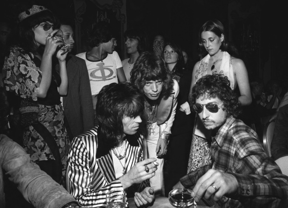 24 de Maio - Bob Dylan, Mick Jagger e Keith Richards.