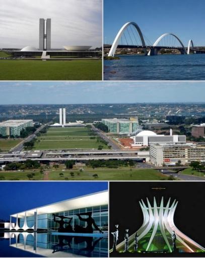 21 de Abril - Brasília — DF - Fotomontagem. Pontos turísticos.