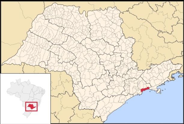 19 de Maio - Localização da Estância Balneária de Bertioga em São Paulo
