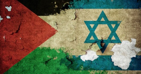 14 de maio - bandeira, israel, palestina