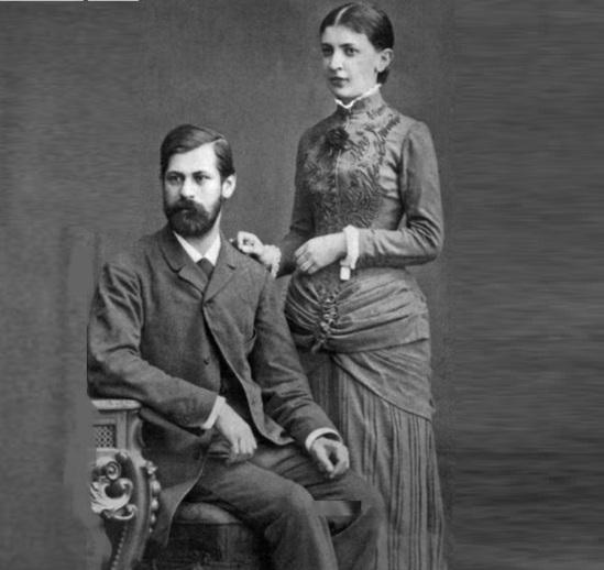 6 de maio - Sigmund Freud e Martha Bernays.