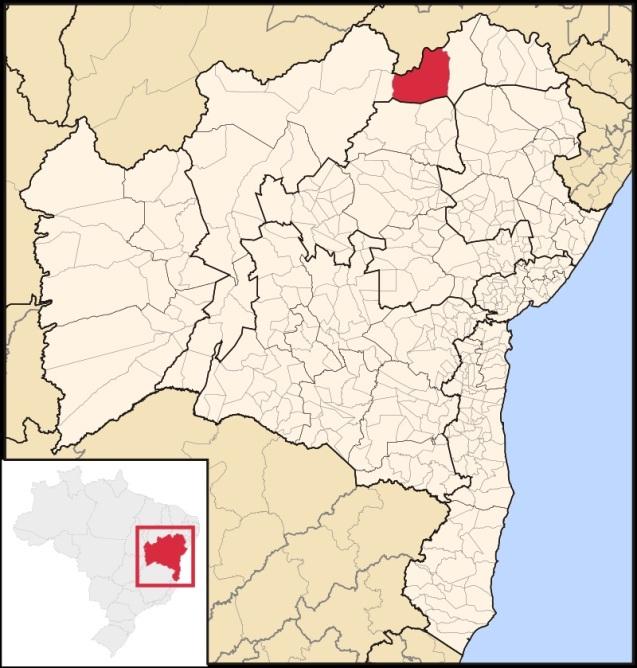 15 de Julho - Mapa de localização — Juazeiro (BA) — 139 Anos em 2017.