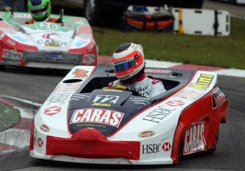 23 de Maio - Rubens nas 500 Milhas de Kart da Granja Viana, em 2009.