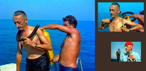 11 de Junho - Jacques Cousteau, explorador e inventor francês - preparando-se para mergulhar.