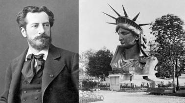 5 de Outubro - 1904 — Frédéric Auguste Bartholdi, escultor francês, autor da célebre Estátua da Liberdade(n. 1834).