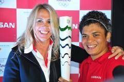 Adriana Araújo, pugilista brasileira com Hortência, nas Olimpíadas do Rio 2016.