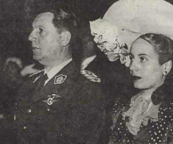 7 de Maio - 1919 – Eva Perón, conhecida como Evita, foi uma atriz e líder política argentina, em seu casamento.