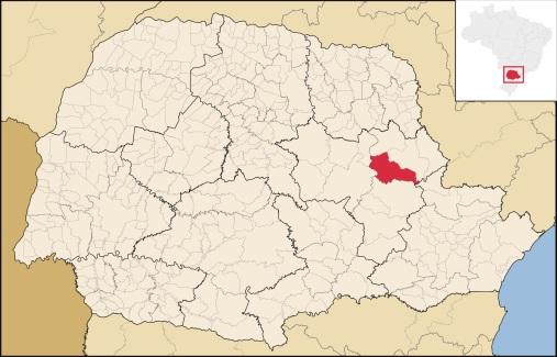 23 de Abril - Mapa de Piraí do Sul - PR.