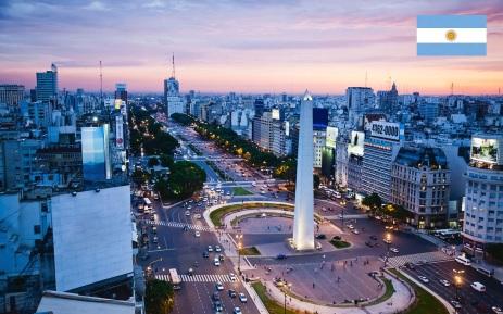 Cidade de Buenos Aires, capital da Argentina.